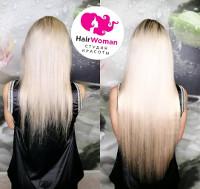 Фото до и после наращивания волос лентами